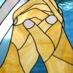 praying hands - stain glass